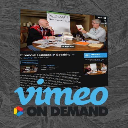 Vimeo on Demand: Financial Success in Speaking